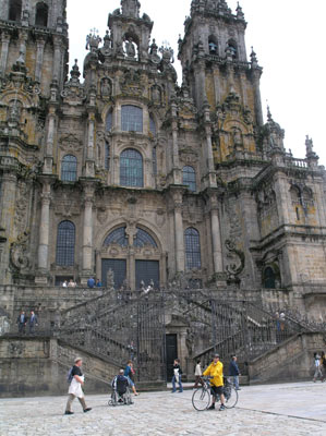 Outside Santiago Cathedral